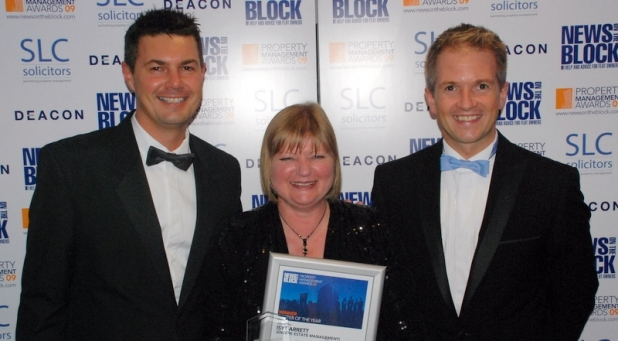 Isy with Encore's directors, Stephen Chard and Neil Robinson